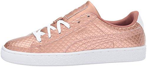 Pictures of PUMA Basket Met Emboss Kids Sneaker Copper 5