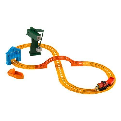 Thomas & Friends Cargo Drop - Thomas & Friends BHR95 Collectible Railway SALTY & CRANKY'S CARGO DROP Playset by Fisher-Price