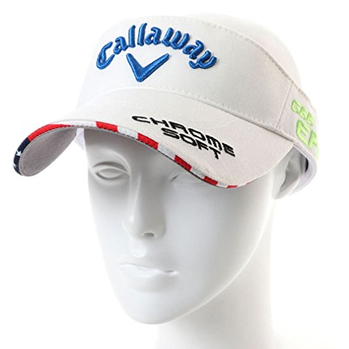 Callaway(キャロウェイ) メンズ ゴルフ サンバイザー ツアーバイザー18JM (2478990600) ホワイトXブルー フリー