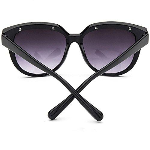 Femmes Pour Nouveau Rond Vintage Z De Black p Lunettes Soleil Chissantes 41PxWOw