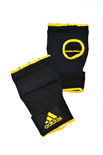 Adidas Bag Gloves (adidas Supr Inner Glove Wraps, Black/Gold, Small)