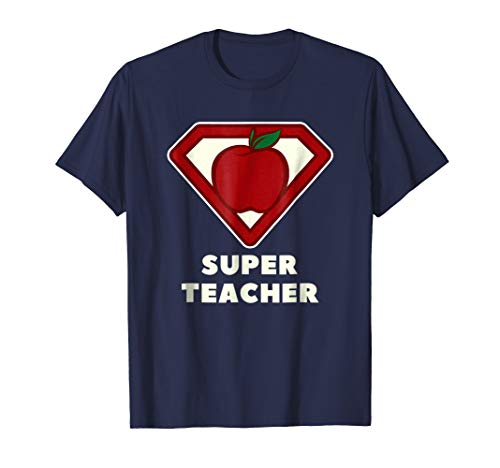 Super Teacher T-Shirt Superhero Apple Tee