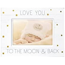 Malden 4699-46 Designs Baby Memories Love You to Wood with Gold Foil Accents Picture Frame, 4 X 6, White