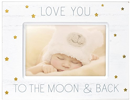 (Malden International Designs Baby Memories Love You To Wood With Gold Foil Accents Picture Frame, 4x6, White)