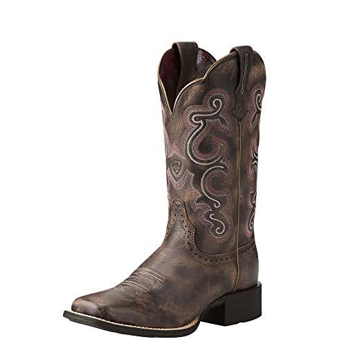 ARIAT Women's Quickdraw Western Boot Tack Room Chocolate Size 6 C/Wide Us