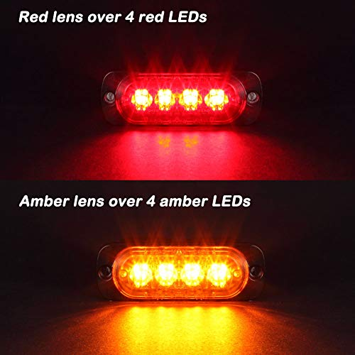 Pack of 2 Aluminum Housing Red LED Trailer Stop Brake Turn Tail Lights AT-HAIHAN DOT Compliant Waterproof Surface Mount Lighting for Truck Tractor Jeep RV