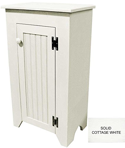 Narrow Wooden Cupboard (Solid - Cottage White)
