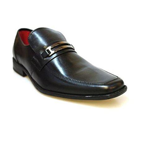 Red Tape Nevis Negro Hombre Zapatos De Cuero