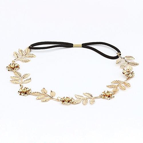 Gold Leaf Tiara Costume (Breynet Fashion Women Head Chain Jewelry Hairbands Wedding Fashion Headband Hair Accessories)