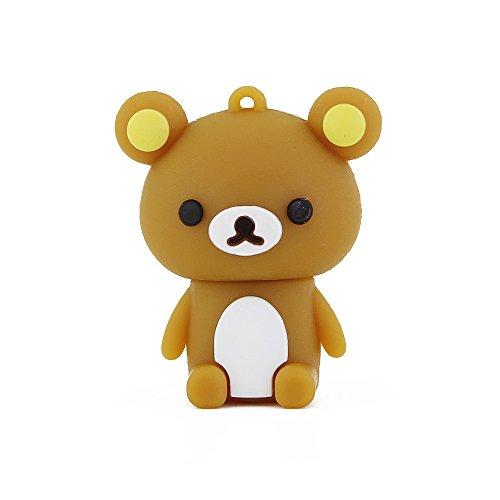 Usbkingdom 32GB USB 2.0 Flash Drive Cute Animal Bear Shape Pen Drive Memory Stick Thumb Drive Pendrive Jump Drive Flash Disk (Brown)