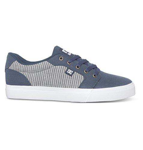 DC Men's Anvil TX SE Skate Shoe, Dark Denim, 10.5 D US