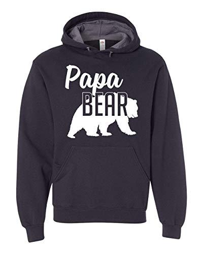 Papa Bear Hoodie Dad Mens Soft Hoodie Adult Unisex Sweatshirt ()