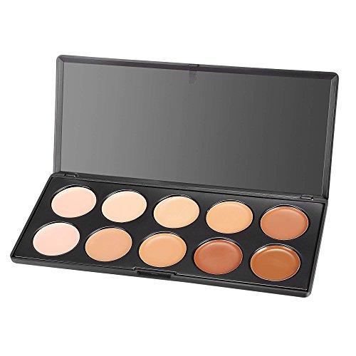 ACEVIVI Professional 10 Color Cream Concealer Foundation Makeup Palette Set