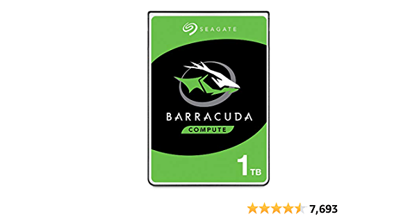 Seagate BarraCuda 1TB Internal Hard Drive HDD - 2.5 Inch SATA 6 Gb/s 5400 RPM 128MB Cache for PC Laptop (ST1000LM048)