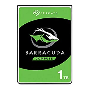 Seagate Barracuda 1TB Internal Hard Drive HDD – 2.5 Inch SATA 6 GB/S 5400 RPM 128MB Cache for PC Laptop (ST1000LM048)