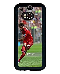 Football Player HTC One M8 Funda Case Nice Famous Premium Dust-proof Rugged Phone Back Funda Case Fits HTC One M8