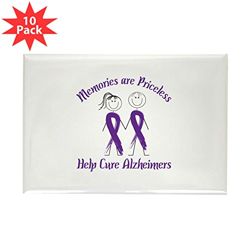 CafePress - Memories Are Priceless Help Cure Alzheimers Magnet - Rectangle Magnet, 2