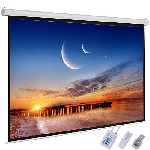 HOBBYN Projector Screen,92 Inch 16:9 Portable Projector Screen High Contrast Collapsible PVC HD 4K Design with Hanging Hole Grommets for Front Projection Home Indoor and Outdoor Movie Match (Hd Front Projection Tv)