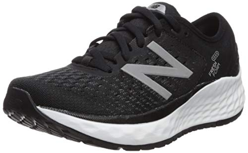 New Balance Women's 1080v9 Fresh Foam Running Shoe, Black/White, 9 M US