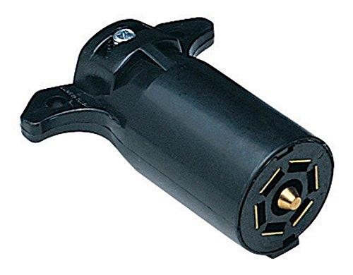 Plastic Connector Pole 7 (Hopkins Towing 48505 7-Pole RV Blade Plastic Trailer End Plug)
