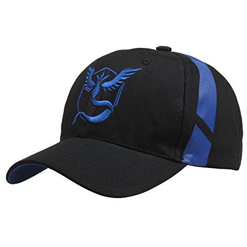 Embroidered Pokemon Go Team Mystic, Valor, Instinct Snapback Baseball Hat Cap - Blue by O-Flow