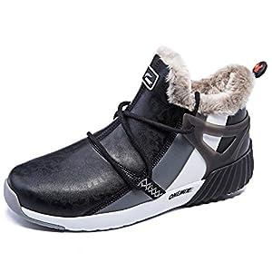 ONEMIX Men's Snow Boots Winter Outdoor Waterproof Shoes Fur Lined Booties Non-Slip Lightweight for Men Women