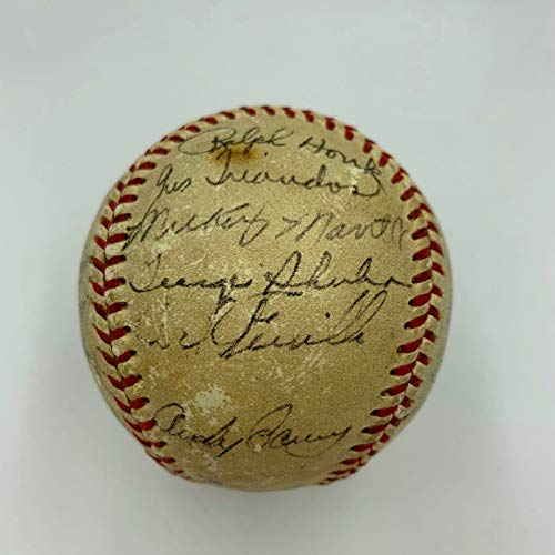 1953 World Series Game Used Signed Baseball Yankees Dodgers Mickey Mantle JSA