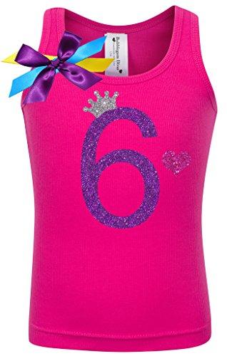 Birthday Diva T-shirt (Bubblegum Divas Little Girls 6th Birthday Pink Princess Shirt)