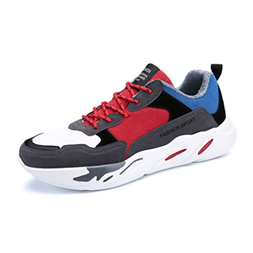 Course Running Chaussure Basket rouge 44 Hiver coton 39 Autommne Style Mode de Homme Multicolore Imperméable Plat BaxfnRf