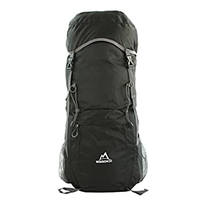 MISSION PEAK GEAR Pace 2400 40L Foldable Packable Backpack Daypack, Ultra Lightweight, High Quality, Extra Durable Light Backpack, for Men and Women, Camping, Outdoor, Travel, Hiking, Biking, School, Air Traveling, Carry On Backpack