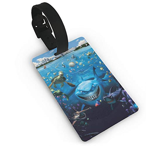 (Ocean Theme Shark Luggage Tag Travel Accessories Business Card Holder Quickly Spot Luggage Suitcase For Boy, Girl, Man,)