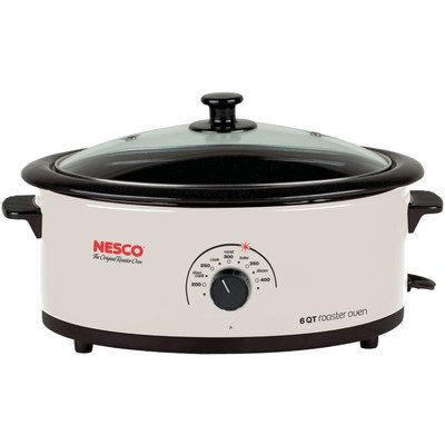 6-Quart Nonstick Roaster Oven Color: Ivory