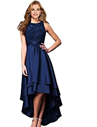 Womens Halter High Low Prom Dresses 2018 Long Formal Evening Ball Gowns D76