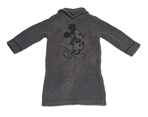 Barefoot Dreams CozyChic Unisex Kids Classic Mickey Mouse Zip-Up Robe Disney Series ()
