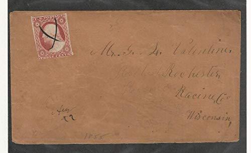 United States, Postage Stamp, 11 Cover, Racine Wisconsin, JFZ