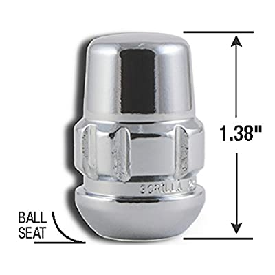 Gorilla Automotive Products 38433XL Ball Seat Wheel Lock System Chrome Set of 20 (12mm x 1.50 Thread): Automotive