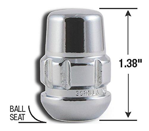 Gorilla Automotive Products 38431XL Chrome Wheel Lock Seat 12mm x 1.50 Thread Size Set of 4