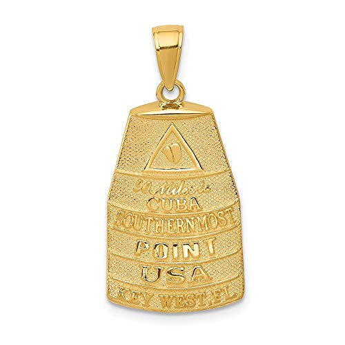 (14k Yellow Gold Southern Most Point USA Key West Buoy)