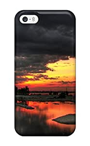 Hard Plastic Iphone 5/5s Case Back Cover,hot Black And White Sunset Case At Perfect Diy
