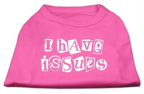 Mirage Pet Products 18-Inch I Have Issues Screen Printed Dog Shirts, XX-Large, Bright Pink by Mirage Pet Products