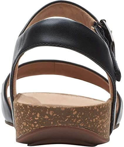 Clarks Un Perri Way Sandal - Women\'s Black Leather, 6.0