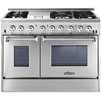 freestanding professional style dual fuel range cu ft double oven burners griddle convection fan vulcan v36 commercial 6 burner gas with stove top cooktop gri