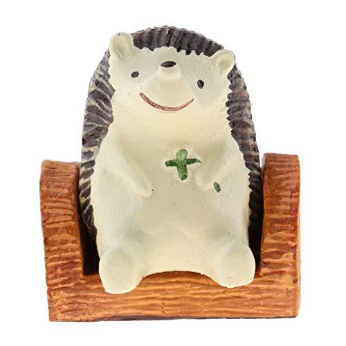 NATFUR Miniature Figurines 1/12 Dollhouse Animals Pet Tree Stump + Hedgehog from NATFUR