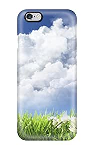 Hot Design Premium SNQEaIS2813cSRJr Tpu Case Cover Iphone 6 Plus Protection Case(sky And Flowers)