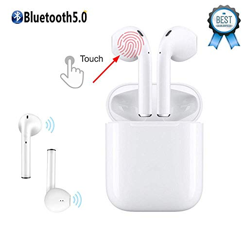 Bluetooth Earbuds,I11 White Wireless Earbuds in Ear Headphones Noise Cancelling Headset Compatible with iPhone XR X 8 8p 7 7P, Samsung Galaxy S9 Huawei & Other Apple Airpods Android/iPhone