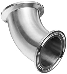 Dixon B2KMP-G150 Stainless Steel 304 Sanitary Fitting, 45 Degree Clamp Elbow, 1-1/2\