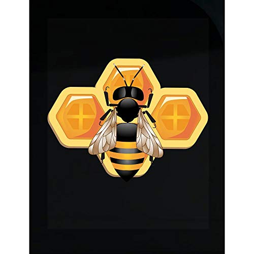 Stuch Strength LLC Funny Bee - Hive Colony Honeycomb Pollen Buzzing Humor - Transparent Sticker