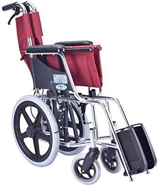 XM Fauteuil roulant médical Tricycle portatif manuel pliant en fauteuil roulant, handicapé, scooter pour personnes âgées - Charge 100 kg, rouge Fauteuils et Chaises