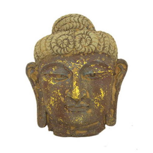 Antique Reproduction Wall Decor - Asian Home Antique Reproduction Wall Decor Buddha Mask