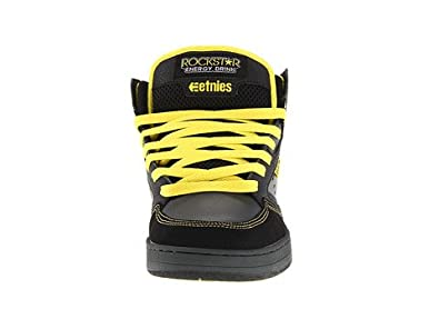 36898ee59d8f9 Amazon.com: Etnies Rockstar Cartel Mid Black Grey Yellow Leather ...
